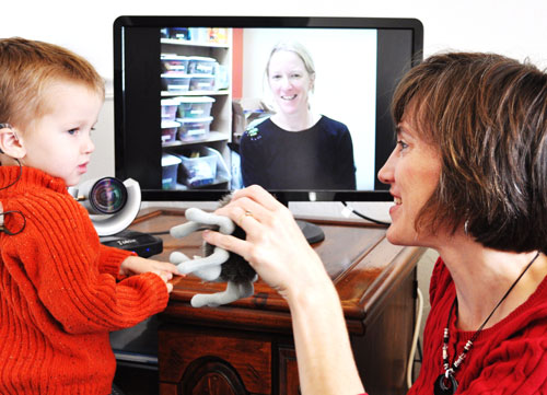 A teleintervention session in progress